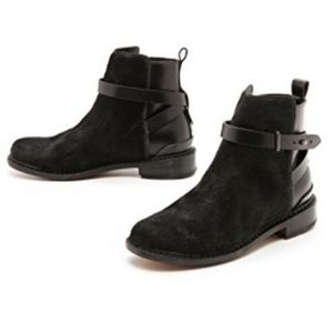 Rag & Bone Driscoll Chelsea black fur/leather boot